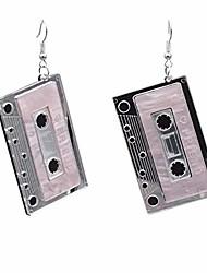cheap -tianhongyan personality 80 s cassette acrylic tape earrings unique retro tape dangle earrings acrylic punk funny drop earrings for women girls accessories (cassette-2)