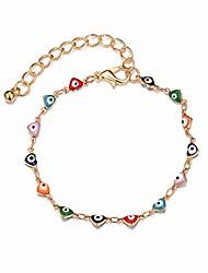 cheap -colorful evil eye bead bracelet geometric flower fish heart shape geometric round oval turkey eye amulet protection jewelry for women girls friendship heart