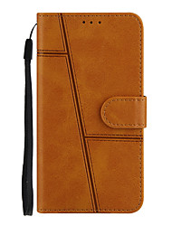 cheap -Phone Case For Vivo Full Body Case vivo Y17 / Y3 Shockproof Dustproof Solid Colored PU Leather