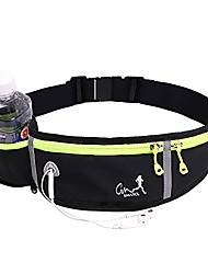 cheap -ruiqia running fanny pack for women, black fanny packs for men adjustable bounce exercise runners belt bag reflective fit wasit pack workout sport pouch bag walking cell phone holder
