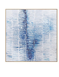 cheap -Oil Painting Handmade Hand Painted Wall Art Modern Abstract Blue  Minimalist Home Decoration Decor Rolled Canvas No Frame Unstretched