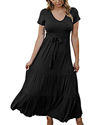 cheap -Women's A Line Dress Maxi long Dress Sapphire Black purple Original design does not infringe, peers do not steal Please download the picture compression package in the Good quality and good version