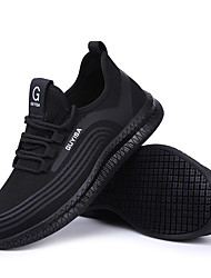 cheap -Unisex Trainers Athletic Shoes Sneakers Sporty Classic Chinoiserie Office & Career Safety Shoes Tissage Volant Breathable Non-slipping Wear Proof Booties / Ankle Boots Black Fall Spring