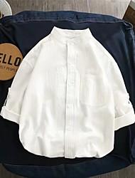 cheap -Women's Plus Size Tops Shirt Solid Color Half Sleeve Button Down Collar Casual Daily Green White Black Big Size L XL XXL XXXL 4XL