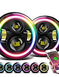 cheap -OTOLAMPARA Fabulous Quality 7'' RGB LED Headlight with APP Bluetooth Control 150W Colorful Ring DRL Headlamp H4 for Wrangler TJ LJ JK All Years 2pcs