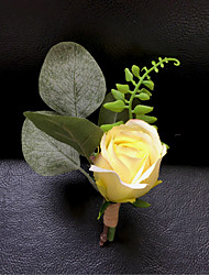 """cheap -Wedding Flowers Boutonnieres / Brooches & Pins Wedding / Wedding Party Artificial Flower 5.91""""(Approx.15cm)"""