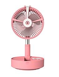 cheap -H9S Folding Portable Telescopic Floor USB Desk Fan 7200mAh Rechargeable Battery Humidification Cooling Fan For Bedroom Office