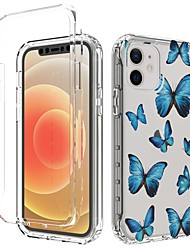cheap -Butterfly Clear Bumper Phone Case for iPhone 12 Pro Max iPhone 11 Pro Max Shockproof Dustproof Butterfly Pattern Back Cover