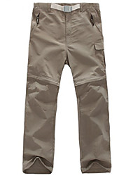 cheap -Men's Hunting Pants Waterproof Removable Quick Dry Breathability Spring Summer Solid Colored Pants / Trousers for Fishing Hiking Outdoor Exercise Grey Khaki Green S M L XL XXL