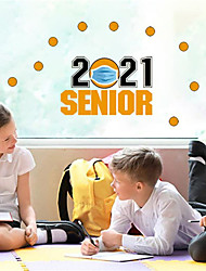 cheap -2021 Graduation Season Wall Stickers Self-adhesive Notebook Decorative Stickers School Classroom Glass Stickers