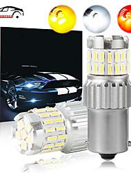 cheap -OTOLAMPARA 2pcs High Bright Lightness 21W Car 1156 LED Stop Brake Light CAN-bus LED 1157 Bulb BAU15S Turn Signal Light Function White Amber Red Colors Optional