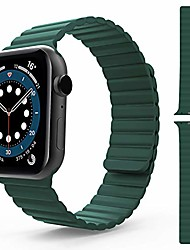 cheap -smartwatch band  compatible with apple watch bracelet 44mm 42mm 40mm 38mm, men women adjustable sports silicone magnetic clasp replacement bracelet for iwatch series se / 6/5/4/3/2/1