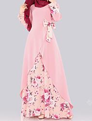 cheap -Muslim Prom Dresses Dress Costume Blushing Pink / Black / Blue Vintage Cosplay Homecoming Date Long Sleeve Sheath / Column