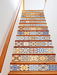 cheap -Creative 3d Stairs Diy Stickers Imitation European Ceramic Tiles Home Decoration Stickers Waterproof 3d Stereo Wall Stickers 13 Piece Set