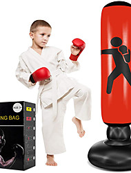 cheap -Punching Bag for Kids Punching Bag Freestanding Inflatable Red Gift for Grils Boys