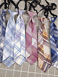 cheap -Kids Baby Girls' Party Spot Japanese Lattice Free Knotted Short Necktie Female Accessories Small Things Children's Collar Accessories Custom Processing