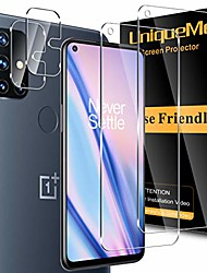 cheap -Phone Screen Protector For One Plus OnePlus 9 OnePlus 8 Pro OnePlus 8 OnePlus 7T OnePlus 7T Pro Tempered Glass 4 pcs High Definition (HD) Scratch Proof Front & Camera Lens Protector Phone Accessory