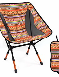 cheap -Camping Chair with Side Pocket Portable Ultra Light (UL) Multifunctional Foldable Oxford Cloth 7075 Aluminium Alloy for 1 person Fishing Beach Camping Autumn / Fall Winter Blue Orange