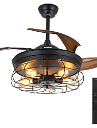 cheap -LED Ceiling Fan Light Pendant Light 42 Variable Frequency Remote Control Fan Light Reversible Exhaust Industrial Ceiling Fan Retractable Blades Retro Style Fan Integrated Lamp with 5PCS E26/E27 Bulbs AC110V AC220V