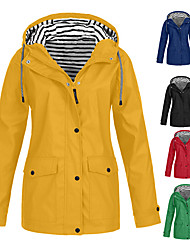 cheap -Women's Hiking Jacket Outdoor Windproof Breathable Sweat-Wicking Wear Resistance Top Hunting Fishing Climbing Navy Pink Blue Purple Yellow