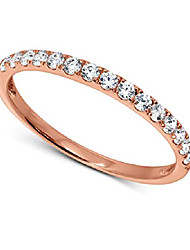 cheap -oro leoni 14k rose gold anniversary band for women. hand set with fifteen brilliant round swarovski cubic zirconia stones totaling 1/2 carats total gemstone weight. available in size 5 6 7 8 & 9 (9)