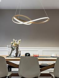cheap -LED Pendant Light Modern Gold Circle Design 50/60 cm Single Design Chandelier Aluminum Artistic Style Stylish Painted Finishes Artistic 110-120V 220-240V