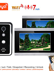 cheap -TUYA Video Intercom WIFI Video Door Phone System Home  Intercom with 7 Inch Touch Screen 2 Monitor AHD 1080P Doorbell