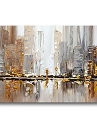 cheap -Oil Painting Handmade Hand Painted Wall Art Urban Landscape Skyline Building Home Decoration Dcor Stretched Frame Ready to Hang