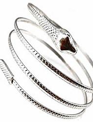 cheap -jczr.y women men alloy bracelets coiled snake spiral punk gold silver color upper arm cuff armlet armband bracelets bangles (silver)