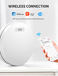 cheap -Smoke Detector Wifi Smoke Alarm Fire Protection Smoke Detector Sound And Light Combination Alarm Home Security System