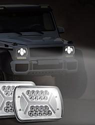 cheap -OTOLAMPARA Left/Right Sides Super Bright Lightness 500W Truck Light X Style 7'' Headlight Square Model IP67 Waterproof Trailer Headlamp Replacement 2pcs