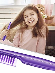 cheap -electric detangling brush automated hair-detangler - automatic hair detangler brush wet or dry use purple hair brush for adults and kids(batteries not included)