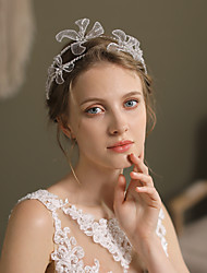 cheap -Cute Tulle / Net Headbands with Imitation Pearl / Floral 1 pc Wedding / Party / Evening Headpiece