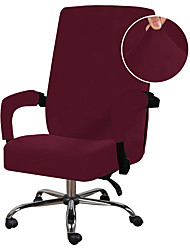 cheap -Computer Office Chair Cover Stretchable Cloth Polyester Chair Covers Stretch Rotating Chair Slipcover, Black