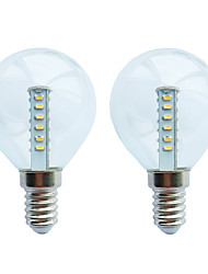 cheap -2pcs 3 W LED Globe Bulbs 120 lm E14 G45 25 LED Beads SMD 3014 Warm White White 180-265 V
