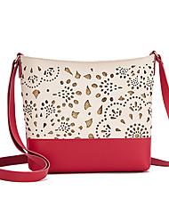cheap -Women's Bags PU Leather Crossbody Bag Classic Hollow Fashion Shopping Daily 2021 Black Red Blushing Pink Gray