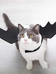 cheap -Pet Cat Bat Wings for Halloween Party Decoration Puppy Collar Leads Cosplay Bat CostumeCute Puppy Cat Dress Up Accessories