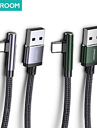 cheap -Joyroom Micro USB USB C Cable Quick Charge 3 A 1.2m(4Ft) Aluminum Nylon For Samsung Xiaomi Huawei Phone Accessory 1/3 Pack