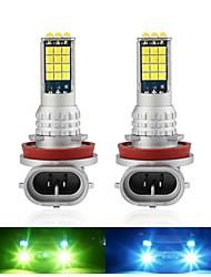 cheap -2PCS Fog Lights 30SMD H8 H11 H3 H4 H7 Two-Color LED Car Light Auto 9005 HB3 9006 HB4 H16 P13W Fog Lamp Day Running Light Automotive