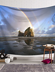 cheap -Rainbow River Rock Wall Tapestry Art Decor Blanket Curtain Hanging Home Bedroom Living Room Decoration Polyester