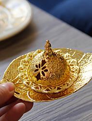 cheap -ramadan golden metal handheld middle eastern arab incense burner european leaf tray aroma burner small one delivery