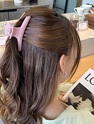 cheap -korean net celebrity gentle all-match hairpin back head large catch clip fairy candy clip headdress ponytail clip hairpin