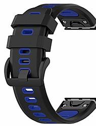 cheap -smartwatch band 26mm two-tone replacement silicone wrist bracelets for garmin fenix 6x pro / 6x / fenix 5x / 5x puls / descent mk1 (silicone black + blue)