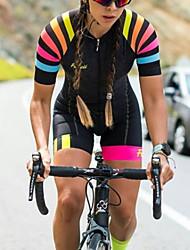 cheap -Women's Men's Short Sleeve Triathlon Tri Suit Summer Black Bike Quick Dry Breathable Sports Mountain Bike MTB Road Bike Cycling Clothing Apparel / Stretchy / Athletic