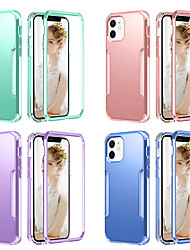 cheap -Phone Case For Apple Back Cover iPhone 12 iPhone 12 Pro Max iPhone 12 Pro iPhone 12 Mini Shockproof Dustproof Solid Colored TPU PC