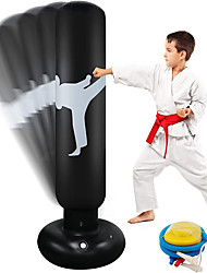 cheap -Focus Punching Bags Inflatable Punching Bag for Kids 63 Inch Free Standing Boxing Bag for Immediate Bounce-Back for Practicing Karate Taekwondo MMA and to Relieve Pent Up Energy in Kids and Adults