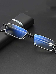 cheap -Fashion Half-frame Reading Glasses For Men And Women Portable Fashion With Box Anti-blue Reading Reading Glasses Reading Glasses Men And Women