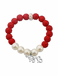 cheap -cenwa 1913 sorority jewelry delta gift dst jewelry greek sorority gift(red pearl beads -br)