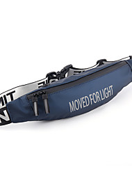cheap -Men's Bags PU Leather Fanny Pack Zipper Solid Color Daily 2021 Gray Green Black Dark Blue