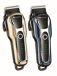 cheap -High-power LCD Hair Clipper Men's Hair Salon Electric Clippers Charging And Plugging